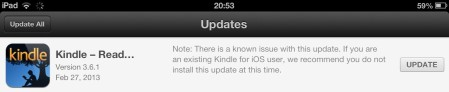 Amazon Kindle Update - Do Not Install
