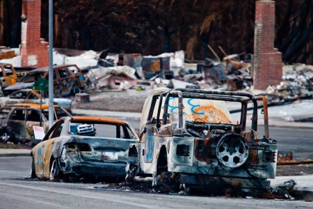 Parked Cars, San Bruno Gas Line Explosion, 2010